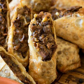 Cheesesteak Egg Rolls - A Family Feast