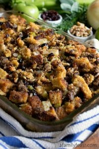 Cornbread and Sausage Stuffing - A Family Feast