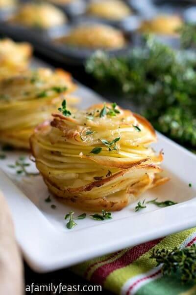 Asiago Potato Stacks - A Family Feast
