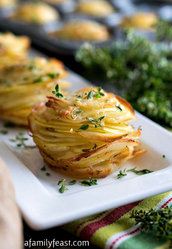 Asiago Potato Stacks - A Family Feast