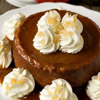 New England Caramel Pumpkin Pudding - A Family Feast