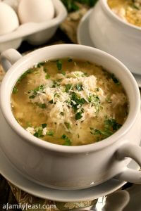 Turkey Stracciatella Soup - A Family Feast