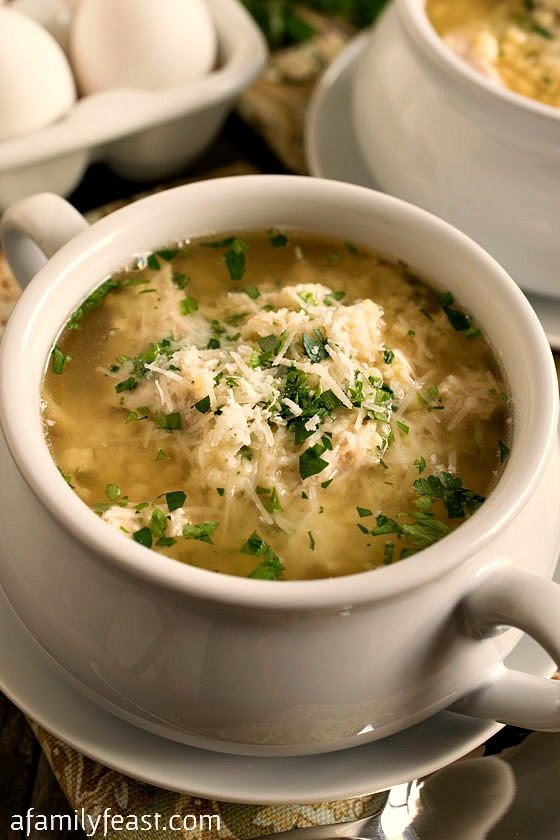 Turkey Stracciatella Soup - A Family Feast
