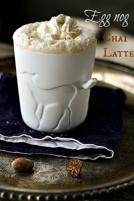 Eggnog Chai Latte - 30+ Festively Delicious Eggnog Recipes