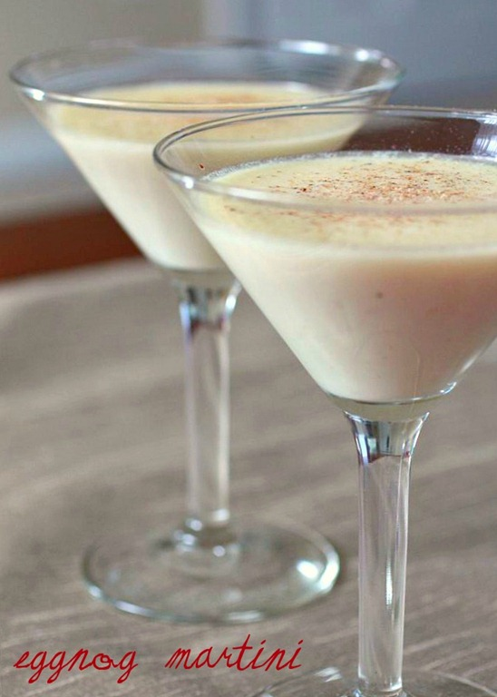 Eggnog Martini - 30+ Festively Delicious Eggnog Recipes