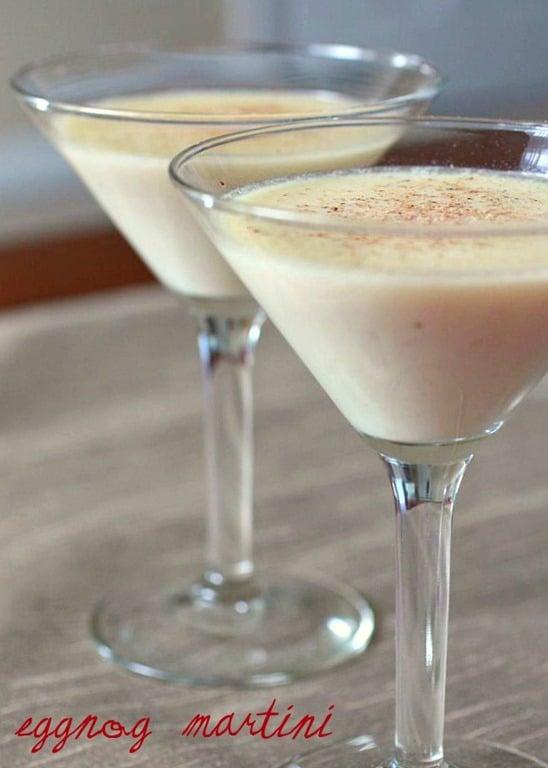 Eggnog Martini - 30+ Festively Delicious Eggnog Recipes