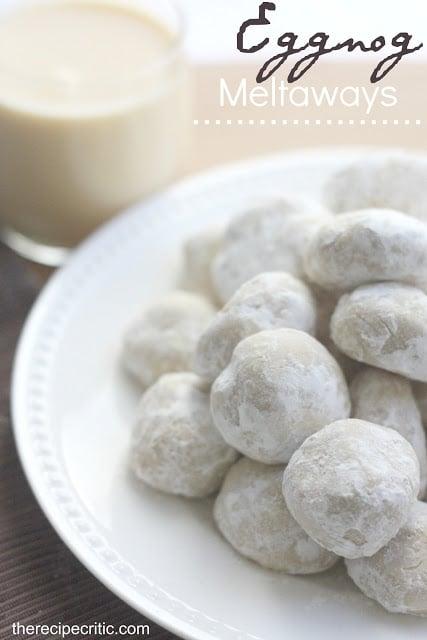 Eggnog Meltaways - 30+ Festively Delicious Eggnog Recipes