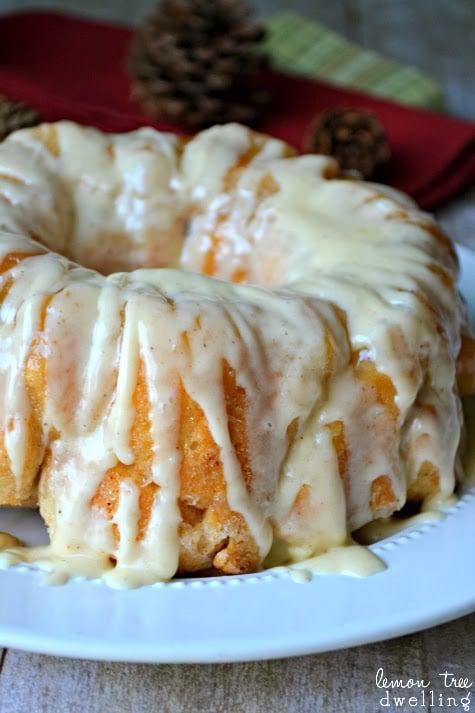 Eggnog Monkey Bread - 30+ Festively Delicious Eggnog Recipes