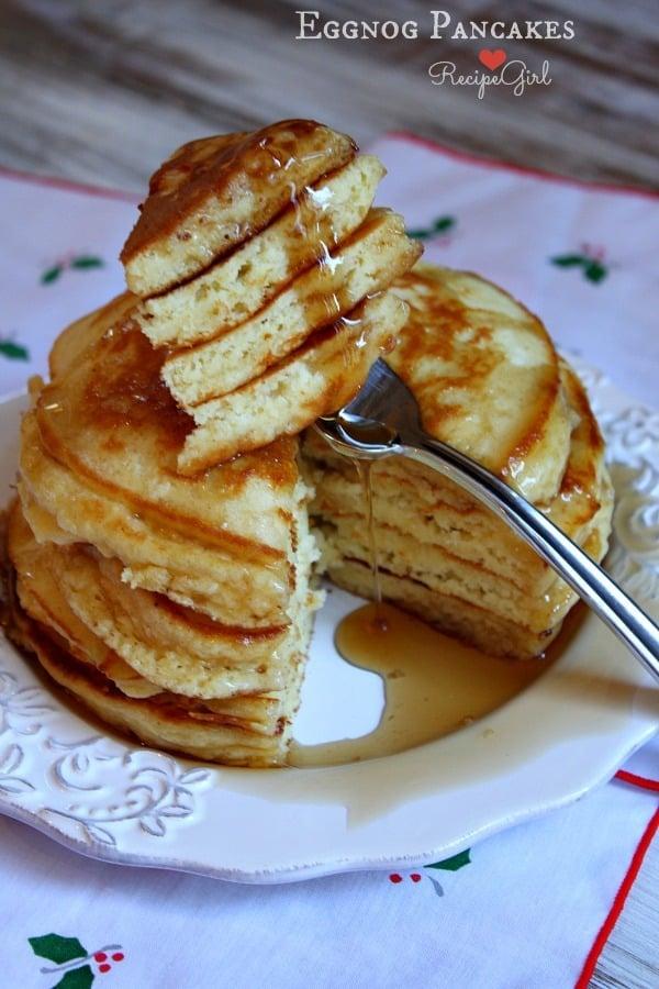 Eggnog Pancakes - 30+ Festively Delicious Eggnog Recipes