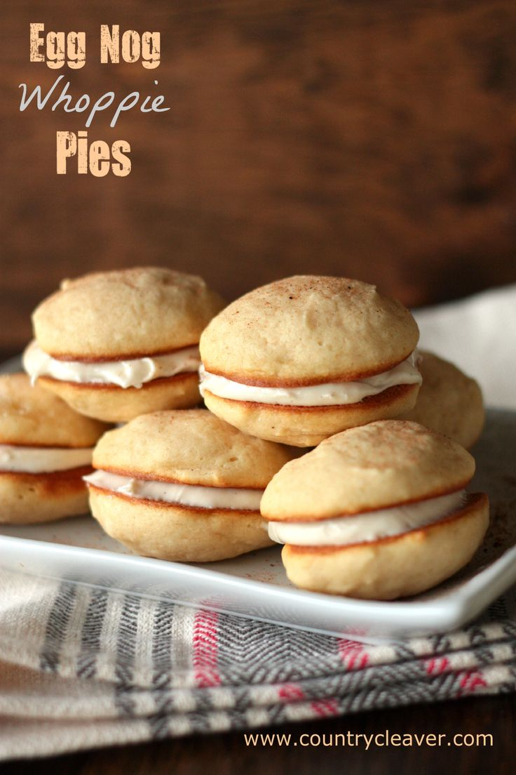 Eggnog Whoopie Pies - 30+ Festively Delicious Eggnog Recipes