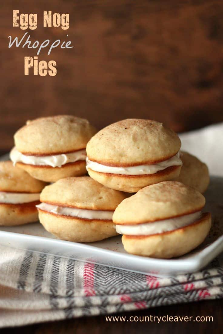 Eggnog Whoopie Pies - 30+ Festively Delicious Eggnog Recipes