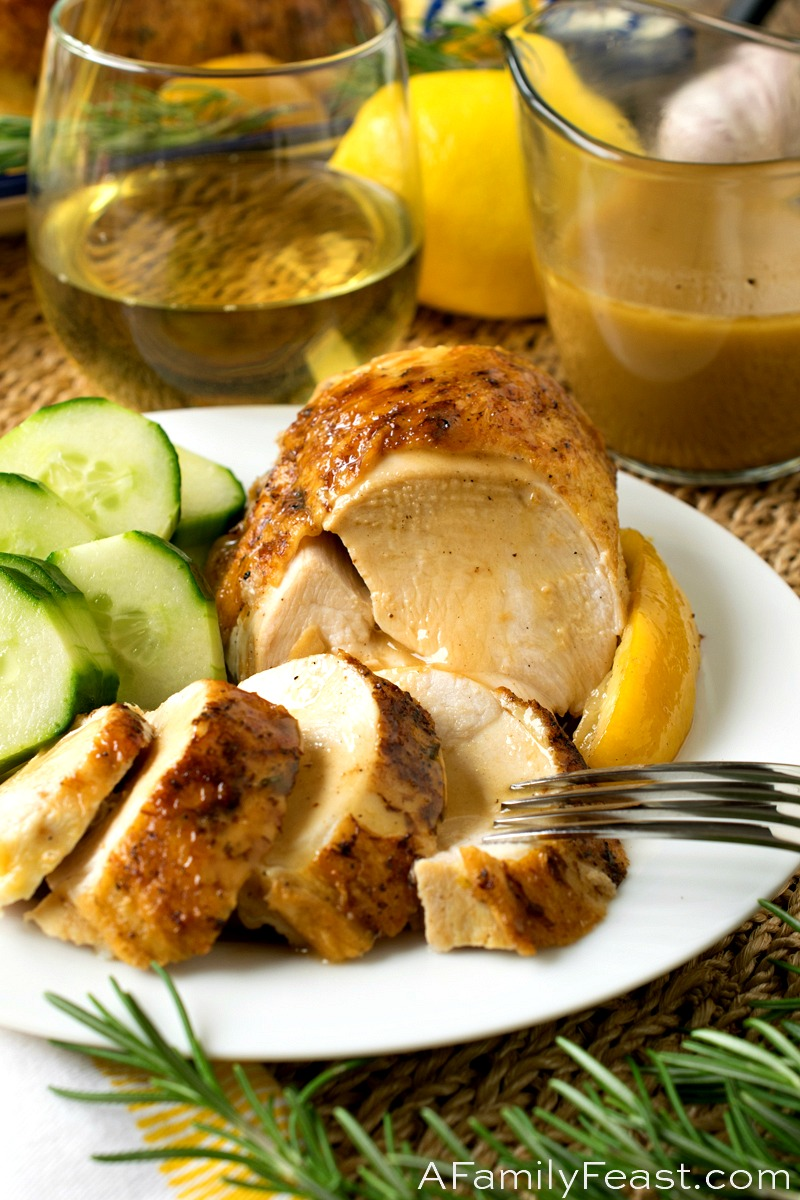 Watch Lemon Rosemary Chicken with Bread Salad video