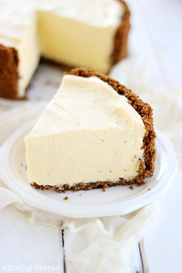 No Bake Egg Nog Cheesecake - 30+ Festively Delicious Eggnog Recipes