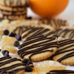 Orange and Ginger Cookies with Chocolate Drizzle