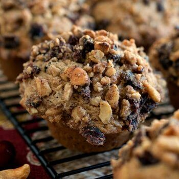 Cashew Cranberry Crunch Muffins - A Family Feast