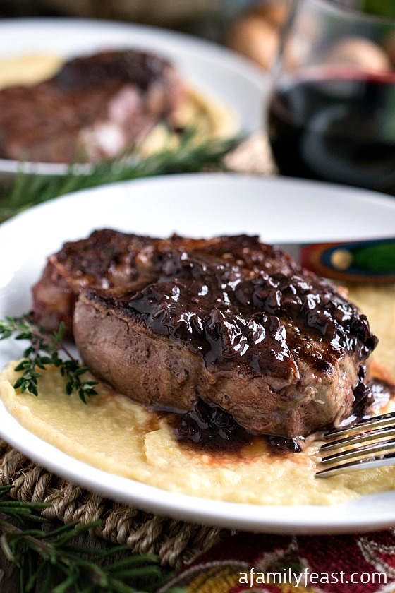 Filet Mignon with Mushroom Sauce - The perfect way to prepare filet mignon plus a fantastic mushroom sauce!  A great option to serve at a special dinner!