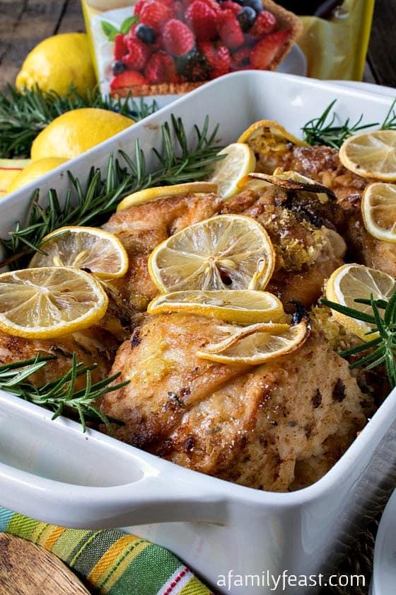 Lemon Rosemary Chicken - A Family Feast