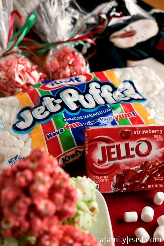 Festive JELL-O Popcorn Balls - A Family Feast