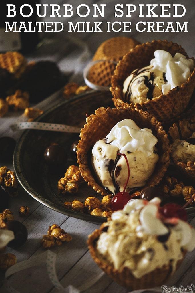 Spiked Malt Milk Ice Cream - 30+ Recipes for Malted Milk Lovers