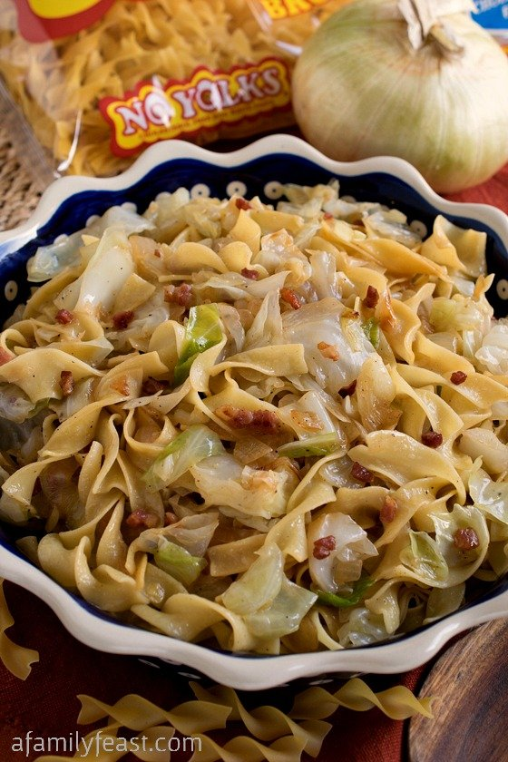 Haluski - A simple,rustic and traditional dish made with fried cabbage and noodles.  Pure, delicious comfort food!