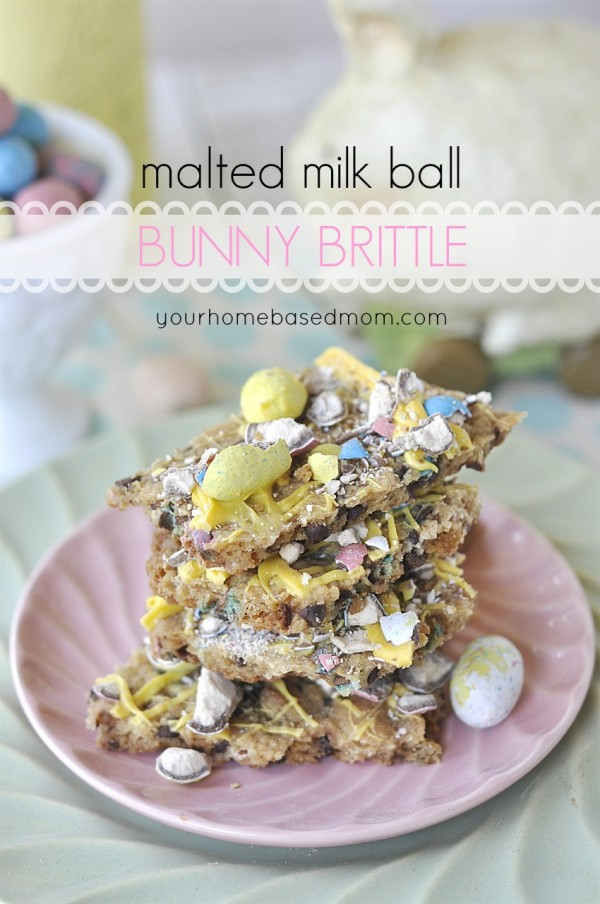 Malted Milk Ball Bunny Brittle - 30+ Recipes for Malted Milk Lovers