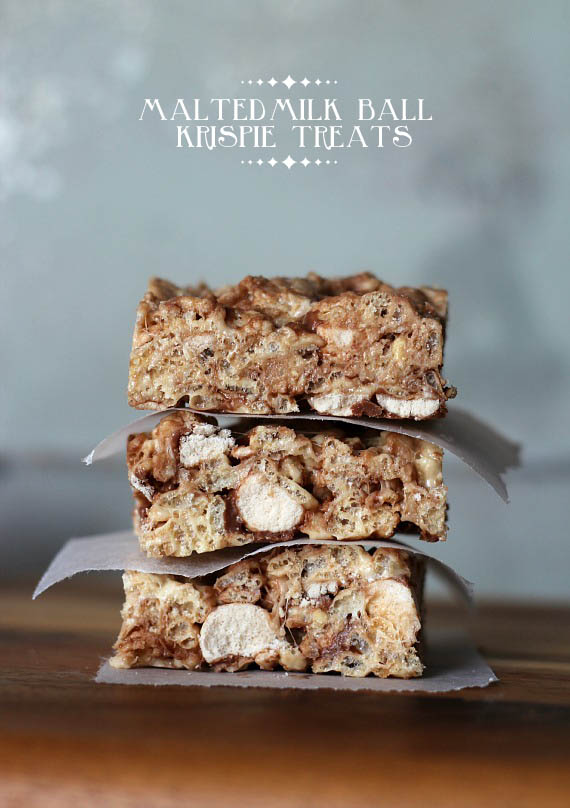 Malted Milk Ball Krispie Treats - 30+ Recipes for Malted Milk Lovers
