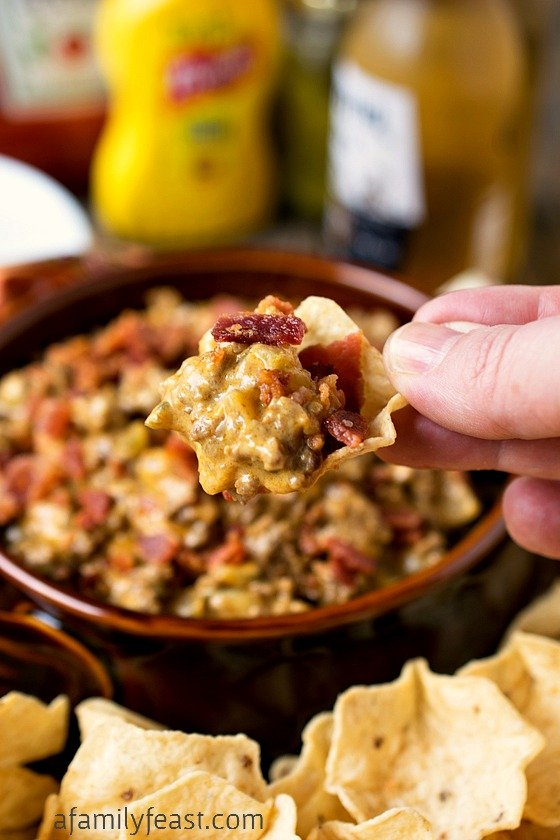 Bacon Cheeseburger Dip - A Family Feast