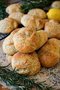 Potato Rosemary Kaiser Rolls - A Family Feast