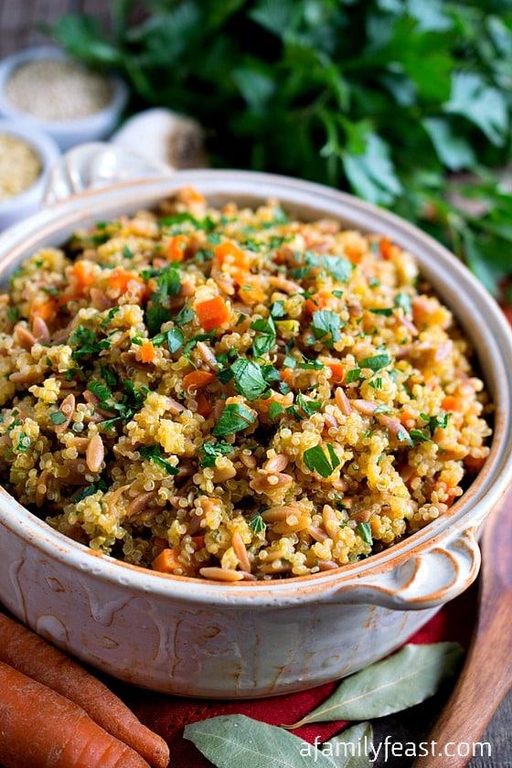 Quinoa Pilaf - A Family Feast