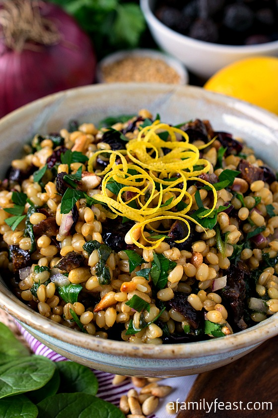 Wheat Berry Salad with Dried Figs and Whole Foods Market  Gift Card Giveaway - A Family Feast