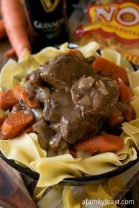 Beef and Guinness Casserole with Noodles - A Family Feast