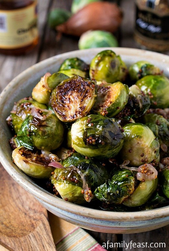 Fried Brussels Sprouts With Shallots, Honey, And Balsamic Vinegar ...