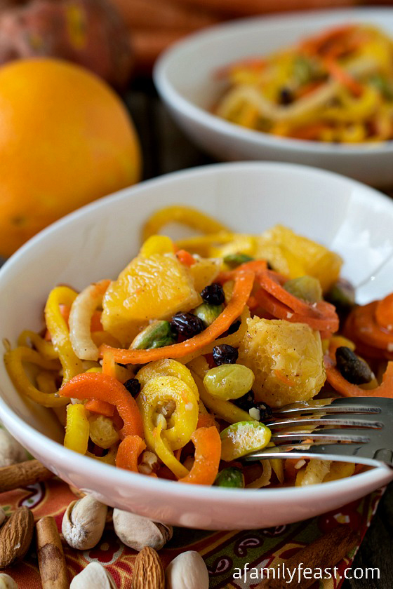 Marinated Spiced Carrot Salad - A delicious and unique way to enjoy winter vegetables...marinated in a spicy citrus dressing.  Fantastic!