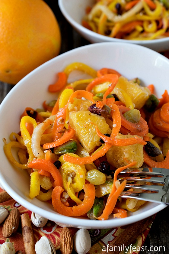 Marinated Spiced Carrot Salad - A Family Feast