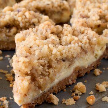 Cream Cheese Crumb Bars - A Family Feast
