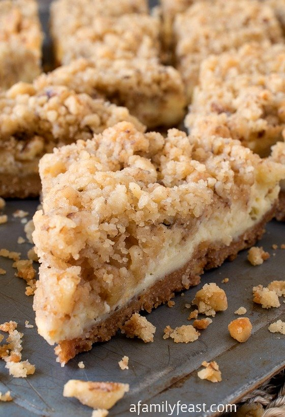Cream Cheese Crumb Bars - A Family Feast