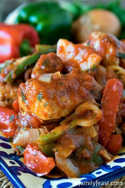 Chicken Cacciatore - A Family Feast