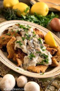 Chicken Escalope with Mushroom Sauce - A Family Feast