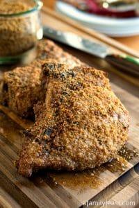 Crumb-Crusted Pork Chops - A Family Feast