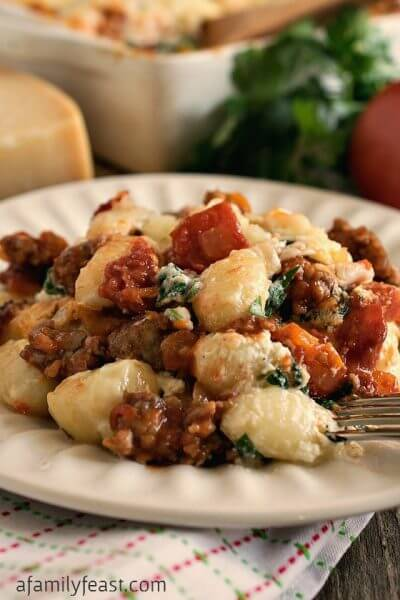 Baked Gnocchi with Italian Sausage - A Family Feast