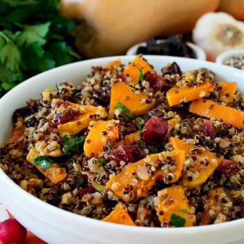 Butternut Squash with Rainbow Quinoa - A Family Feast