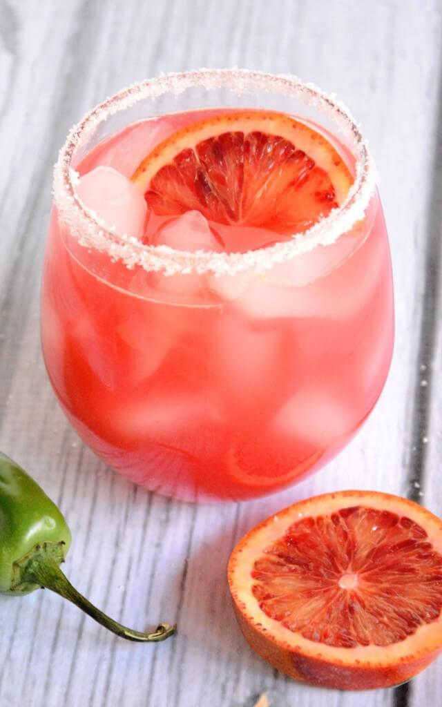 This blood orange margarita is one of over 30 refreshing margarita recipes in a collection on afamilyfeast.com