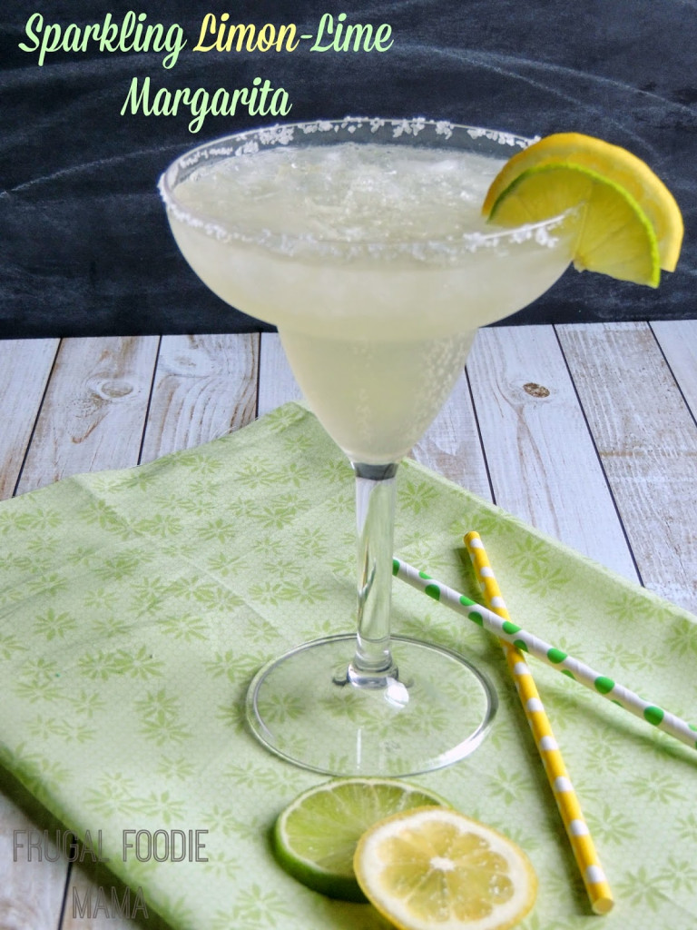 This sparkling limon margarita is one of over 30 refreshing margarita recipes in a collection on afamilyfeast.com