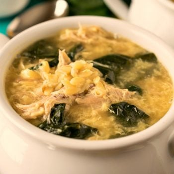 Greek Lemon Chicken Soup with Orzo