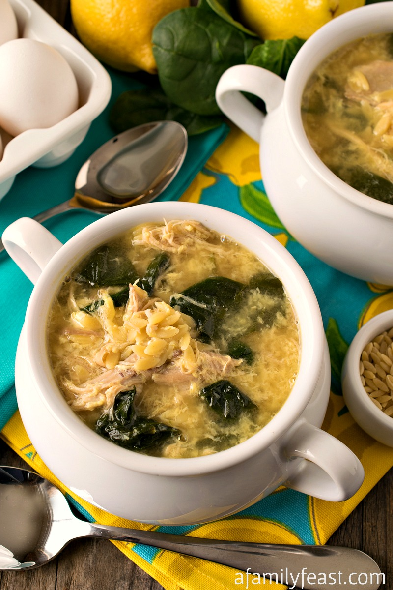Greek Lemon Chicken Soup with Orzo -