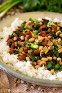 Hoppin' John with Kale - A Family Feast