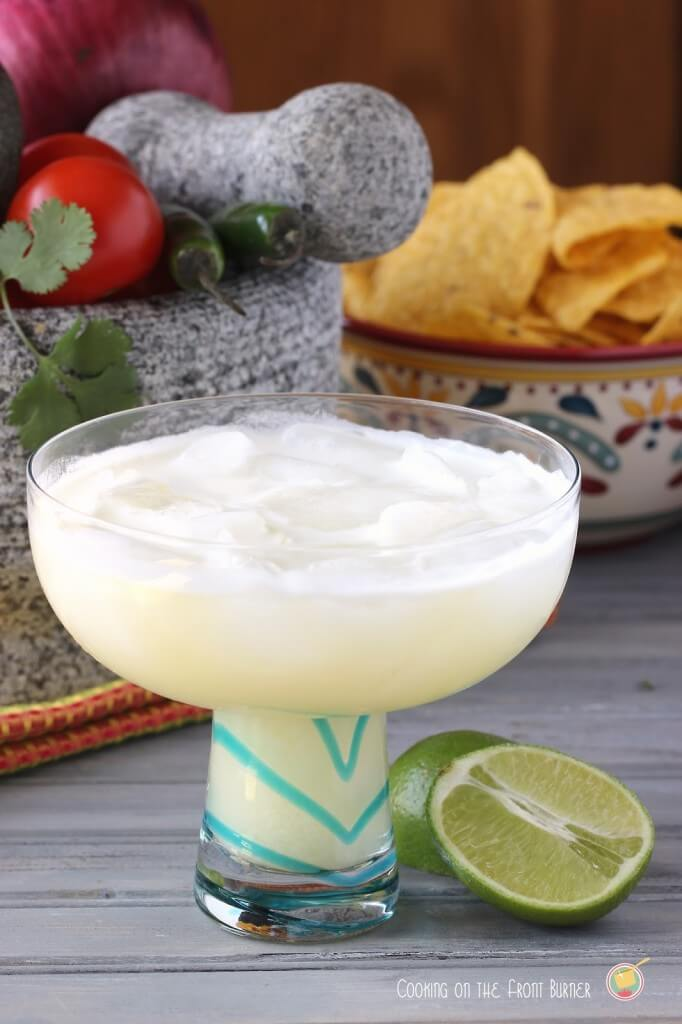 This margarita colada is one of over 30 refreshing margarita recipes in a collection on afamilyfeast.com