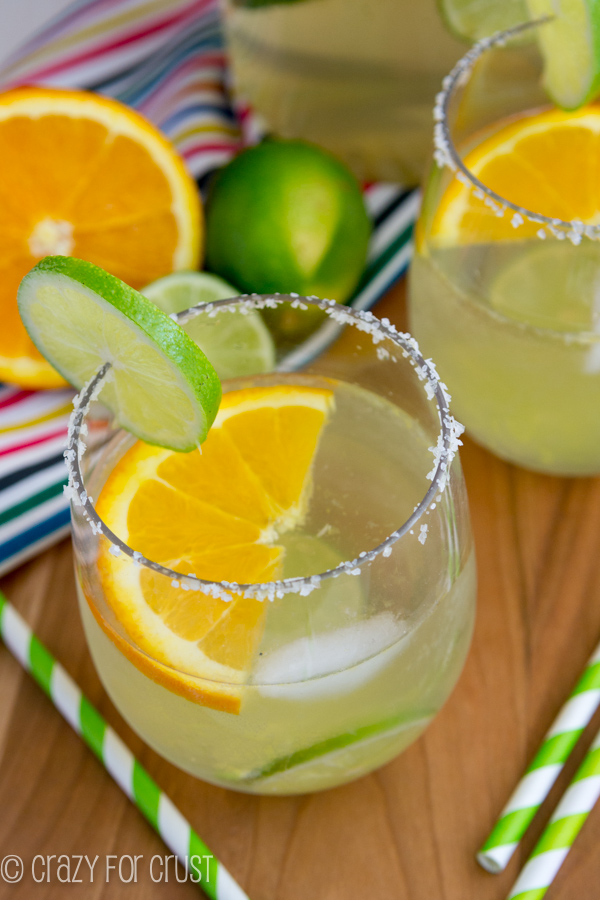 This margarita sangria is one of over 30 refreshing margarita recipes in a collection on afamilyfeast.com