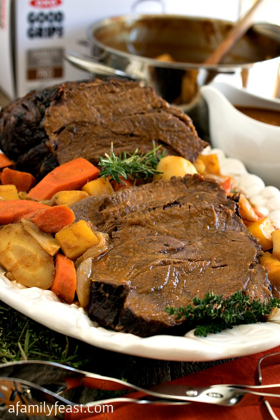 Yankee Pot Roast - A classic New England recipe - this pot roast with roasted root vegetables is super flavorful and fork-tender!