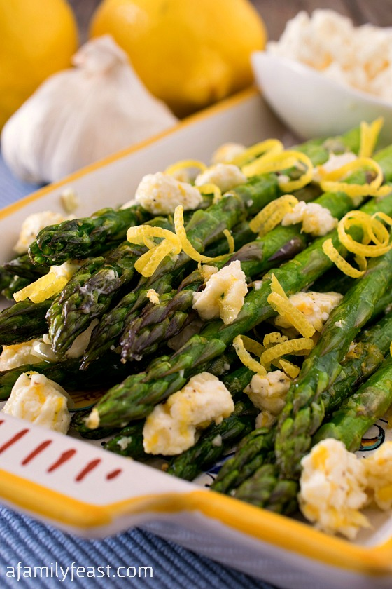 Asparagus with Lemon and Feta - A Family Feast